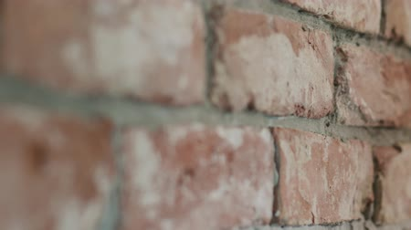 миномет : Slow motion closeup of worker forming seam between bricks