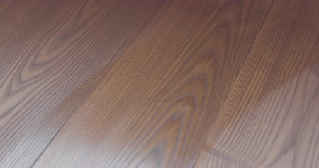 水平の : Closeup man applying protective oil finish to ash floor