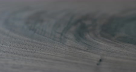 black walnut : Closeup dolly slide sideways over natural black walnut wood board