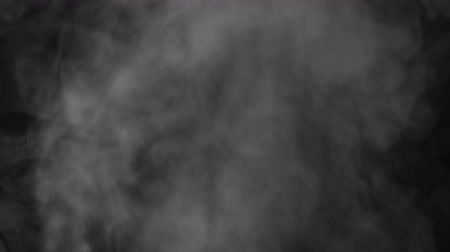 fuvalom : Slow motion water mist puff cloud over black background