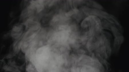 gas jet : Slow motion water mist cloud over black background