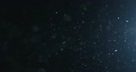 жесткий : Slow motion natural dust particles flow in air on black background
