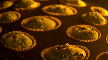 kekler : timelapse muffins Stok Video