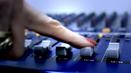 discotheque : audio mixer board Stock Footage