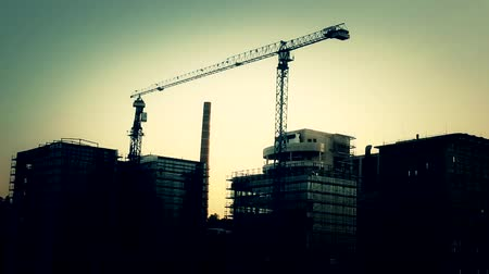 projects : reconstruction area, building site  Stock Footage
