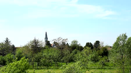 nações : A  Country Landscape with Church Spire and Trees Vídeos
