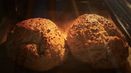 bakery : Bread Bakery ,vignette Time Lapse  zoom  Stock Footage