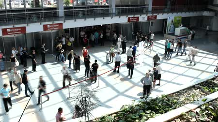 hurry : crowd people hurry business walking timelapse Stock Footage