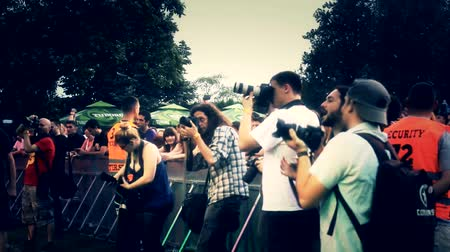 film festival : media photographers at music festival