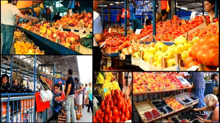 corredor : multiscreen Vegetables fruits Market store place food