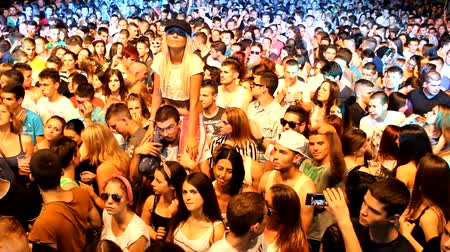 rock concert : fans crowd disco party clubbing festival