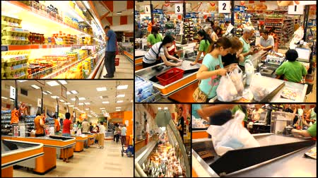 grocery : multiscreen cashier market store place grocery