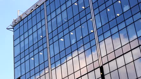 glass structure : window glass buildings office clouds