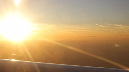 путешествие : Sunset sunshine airplane window view