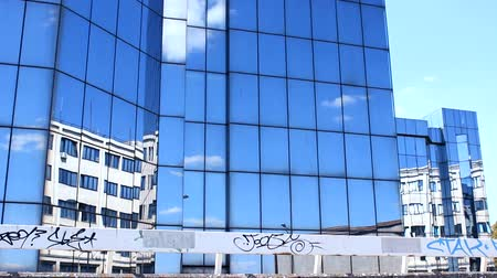 corporate : Building corporate clouds Reflection Stock Footage