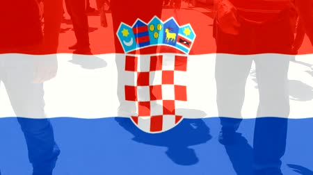 nações : Croatia flag and People