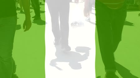 protestor : Nigeria flag and People