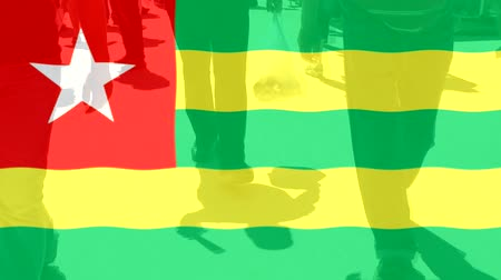 protestor : Togo flag and People
