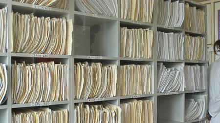 przychodnia : Medical records at clinic Wideo