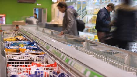 grocery : The big supermarket Stock Footage