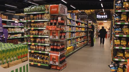 супермаркет : The big supermarket Стоковые видеозаписи