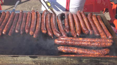 barbecue set : Red grill BBQ sausages