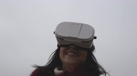 Girl Wearing VR Headset