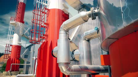 coal fired : Industrial Heating plant pipes
