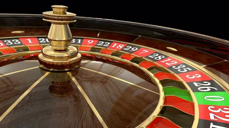 Casino roulette wheel. Animated mask added