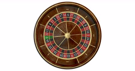 ruleta : Casino roulette wheel loop. 3D render. Animated mask added