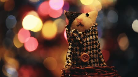 amigurumi : Wool Cat Toy Studio Stock Footage
