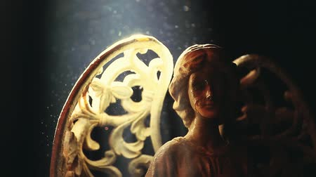 cinematic : Old Ceramic Angel dark background
