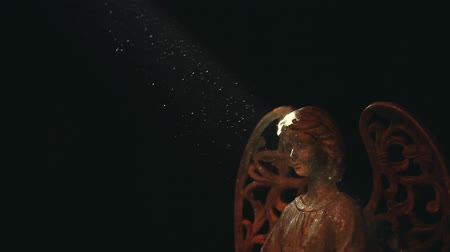 modlitba : Old Ceramic Angel dark background