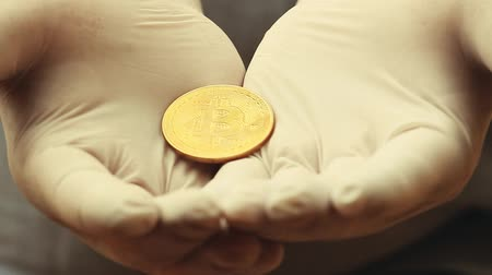 reanimation : bitcoin coin hands gloves