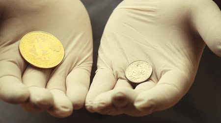 centavo : bitcoin coin hands gloves