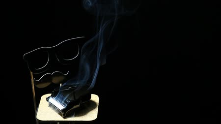 zongora : Black piano smoke dark background mask nobody hd footage