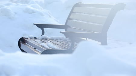 столовая гора : winter bench nobody hd footage