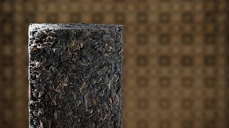 compressed : Black Chinese tea nobody hd footage Stock Footage
