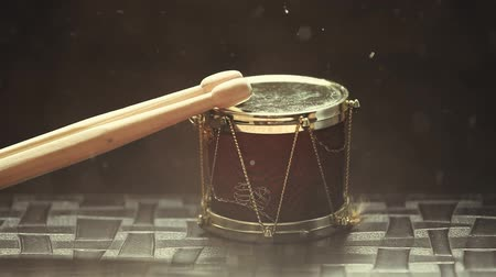 dobverő : small music drum wooden sticks hd footage