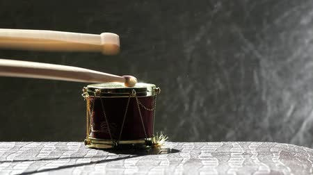 baqueta : small music drum wooden sticks hd footage