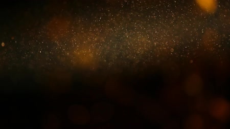 luksus : silver dust on  yellow bokeh background hd footage Wideo