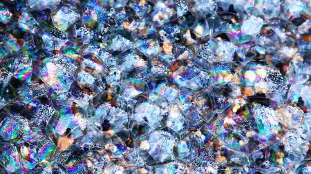 gotas : soap bubbles natural stone background hd footage nobody