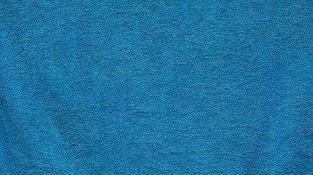 towel folded : blue textile towel