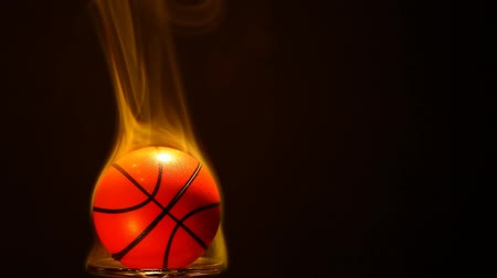 footage of basketball smoke dark background Stock mozgókép