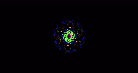esotérico : Spinning abstract magic circle. Esoteric cosmic mandala. Simply ornamental mandala, arabesque or indian style. Loop 4K footage. Transparent background.