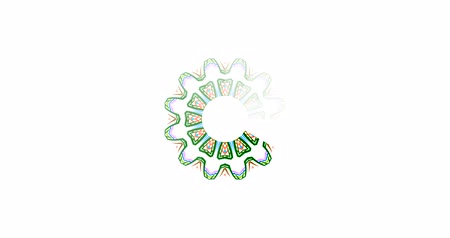 tampon : Simple colorful Preloader With mandala with white background. 4k animation of a design minimal preloader with white mandala fading in and out