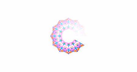 download : Simple colorful Preloader With mandala with white background. 4k animation of a design minimal preloader with white mandala fading in and out
