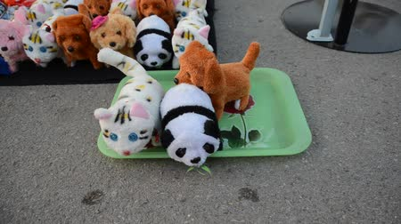 kotě : Robotic animal dolls on ground market of Thailand, it is hand made and very cheap.