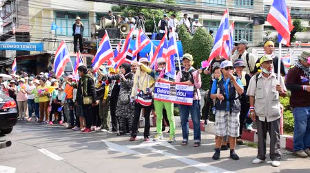rabble : BANGKOK, THAILAND - FEBRUARY 7: Thai protestors take over the Department of Irrigation to pressure prime minister Yingluck and the government to quit because of unacceptacle corruption in Thailand on February 9, 2014.