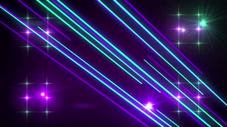 music show : Seamless abstract motion light shining sparking glowing and shooting beams element in disco or nightclub dance music concept in background pattern in 4k ultra HD loop Stock Footage